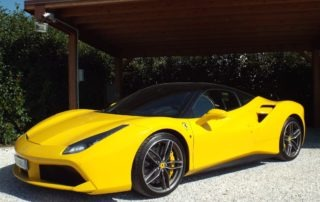 Ferrari 488 yellow - Luxury Garage Service
