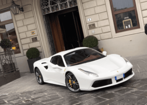 Ferrari 488 Spider white - Luxury Garage Service - Rent a Ferrari