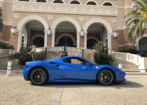 Ferrari 488 Spider Blue